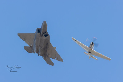 F-22 Raptor with P-51 Mustang