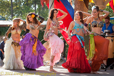 Left to right: Farasha, Soraya, Katia, Unknown, Zara Bellydance