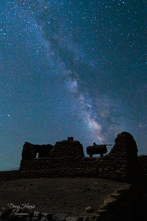 Milky Way over Harmony Borax Works, Tuesday morning 7/13/2021.  Composite image.