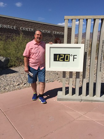 July 10, 2018 at Furnace Creek Visitor Center.  Smokin' Hot!!!