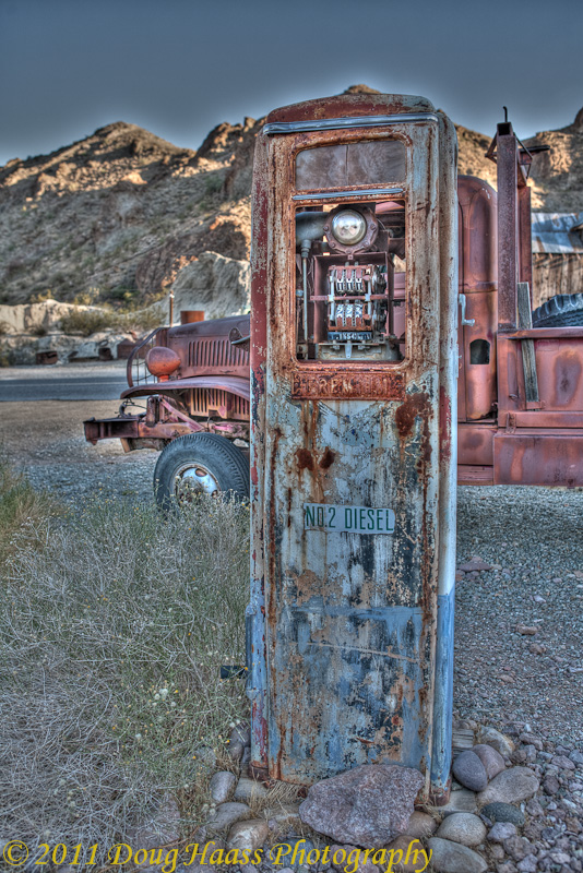 Gas Pump and Truck