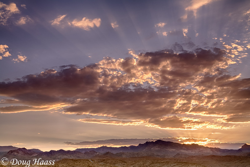 Sunset over Nelson, Nevada.  Just outside of Las Vegas at Lake Mohave.
