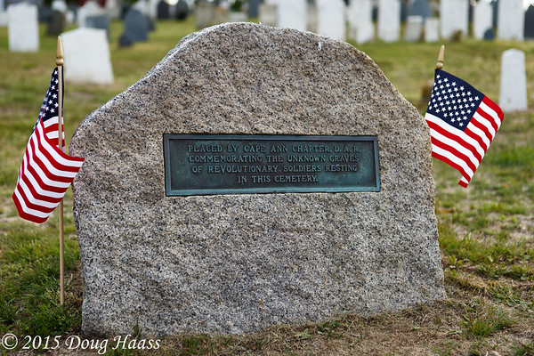 Old First Parish Burial Grounds in Rockport, MA.