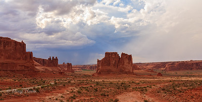 La Sal Viewpoint, Arches National Park outside of Moab, Utah.