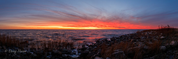 Six image pano at Frozen Point after sunset 12/13/2019.
