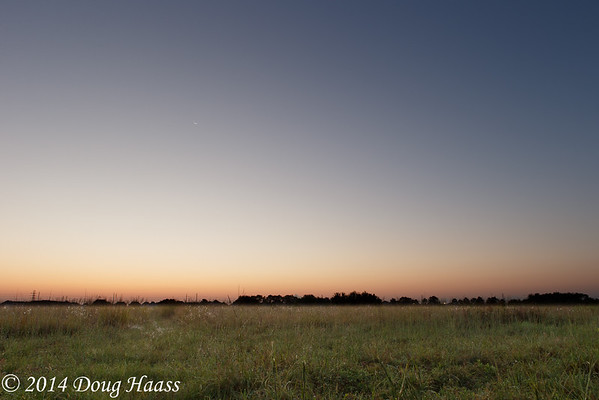 Twilight & Moonrise Over Lawther-Deer Park Prairie Preserve