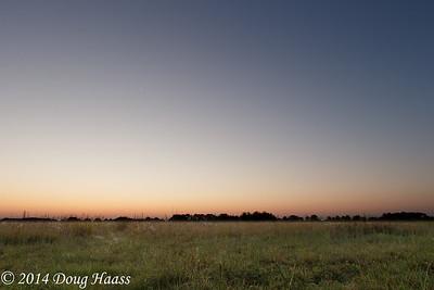 Twilight & Moonrise Over Lawther-Deer Park Prairie Preserve