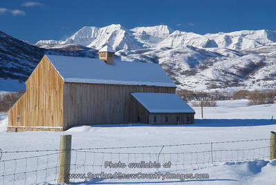 Scenic Winter Barn