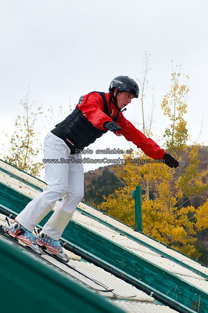 Emily Cook, Summer Training, Utah Olympic Park, Park City, Utah