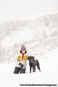 Willy enjoys a nice snow hike, Park City, Utah