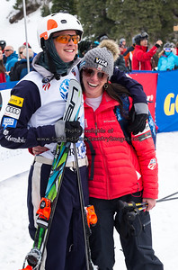 Zachary Surdell and Emily Cook  at the 2014 US Freestyle Ski Championships, Deer Valley Resort, Park City UT  (3/28/2014)