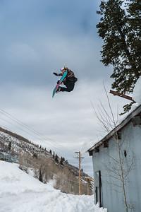 """Pole Jam to Method"", Laura Rogowski rips, Park City, Utah"