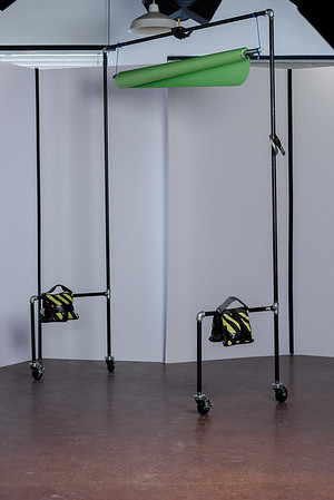 Mobile Background stand ($125) with sand bags