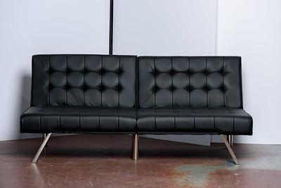 Black contemporary studio sofa ($145)