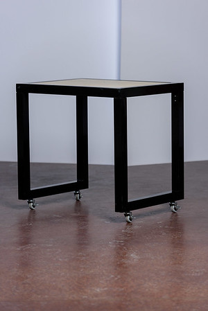 Contemporary Black and Tan table ($85)