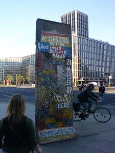 piece of the wall in Potsdamer Platz