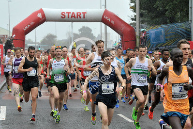 Admiral Swansea Bay 10k Race... Action from the 10K start line. BYLINE www.adrianwhitephotography.co.uk