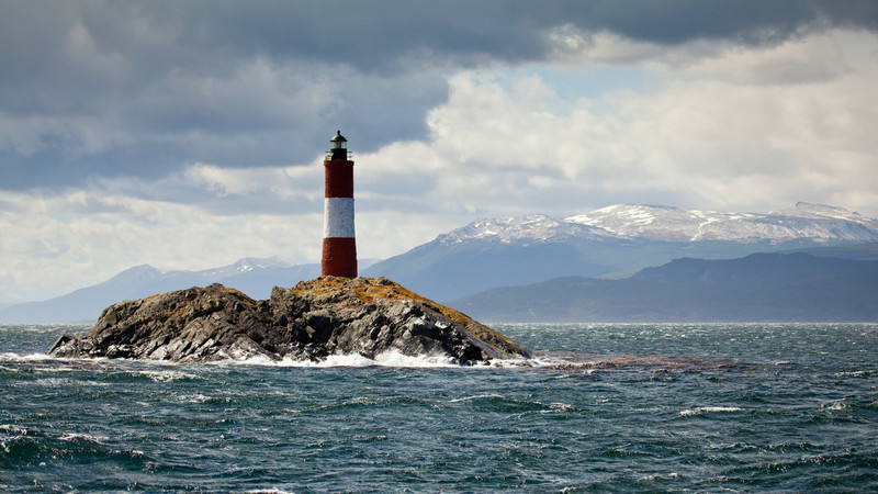 Les Eclaireurs Lighthouse, Beagle Canal, Tierra del Fuego, Patagonia