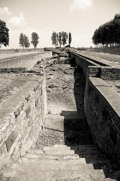 Auschwitz II-Birkenau demolished gas chamber