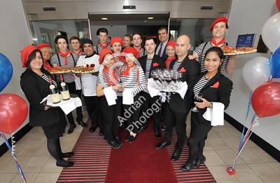 SWANSEA / Copyright Adrian White Thursday 17th November 2016 Beaujolais Day at the DFragon Hotel...
