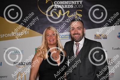 Community Awards 2019,  Brangwyn Hall, Swansea  Commercial Managing Director Media Wales Lisa Cameron and South Wales Evening Post Editor Jonathan Roberts  Copyright © 2019 by Adrian White  Photography, all rights reserved. For permission to publish - contact me via www.adrianwhitephotography.co.uk Please respect copyright laws.