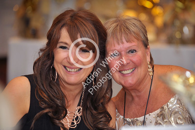 Jan Rees presents 'Going For Gold' charity fundraiser at the Marriot Hotel, Swansea. Helen Bowden and Jan Rees