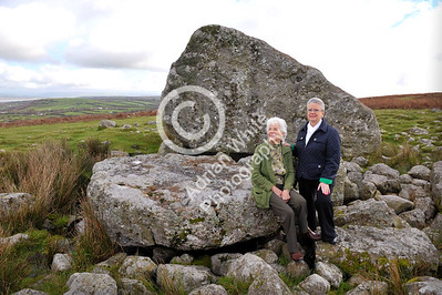 Gower Living...  Jill Burgess and Hilldagard Roberts meeting at King Arthur's Stone on Cefn Bryn