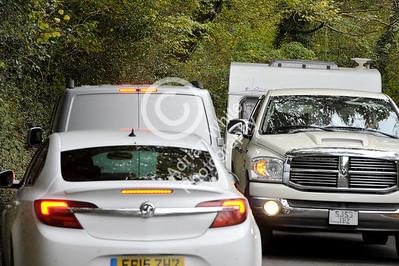 Gower Living...  caravan traffic jams. **** car registrations altered****