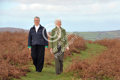 Gower Living...   Jill Burgess and Hilldagard Roberts on Cefn Bryn.
