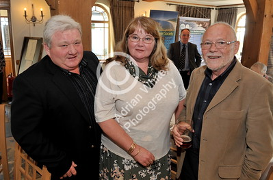SWANSEA / Copyright Adrian White Sunday 23rd October 2016 Gower Society 60th Anniversary Lunch at the King Arthur Hotel, Reynoldston... Glyn and Sue Morgan with Malcolm Ridge BYLINE - www.click4prints.com