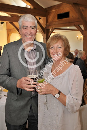 SWANSEA / Copyright Adrian White Sunday 23rd October 2016 Gower Society 60th Anniversary Lunch at the King Arthur Hotel, Reynoldston... Richard Beale and Karen Gibbs. BYLINE - www.click4prints.com