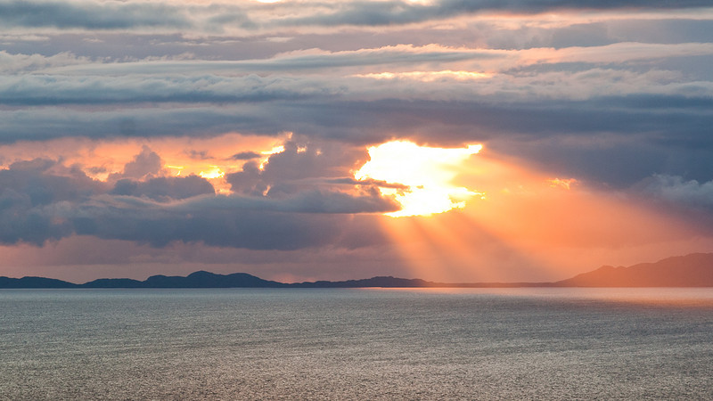 Sunset from Neist Point, Isle of Skye