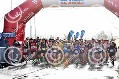 Llanelli Half Marathon 2020. 1500 runners taking part in the annual dash around the town of Llanelli, starting and ending at Parc y Scarlets.  PLEASE BYLINE click4prints.com  Copyright © 2020 by Adrian White  Photography, all rights reserved. For permission to publish - contact me via www.adrianwhitephotography.co.uk Please respect copyright laws.