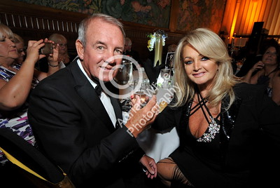 SWANSEA / with story cpyright adrian white/  Byline click4prints.com Friday 29th July 2016 Lord Mayor's Summer Honours Ball Bobby Sullivan with his wife, honoured guest and international superstar, Swansea girl, Bonnie Tyler  BYLINE .. click4prints.com