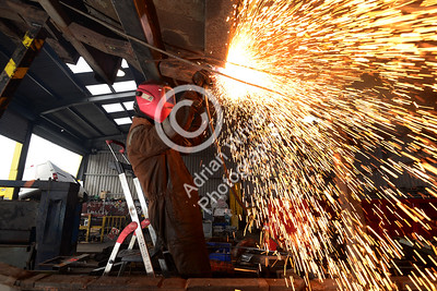 AJT Recycling Limited.. Life in Scrap longtail  Welder/Fitter Andrew 'Bear' Evans  Copyright © 2018 by Adrian White Photography, all rights reserved. For permission to publish - contact me via www.adrianwhitephotography.co.uk Please respect copyright laws.