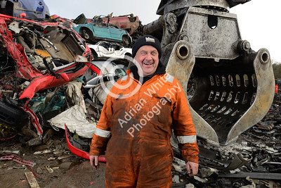AJT Recycling Limited.. Life in Scrap longtail  Crane Driver Gary O'Sullivan  Copyright © 2018 by Adrian White Photography, all rights reserved. For permission to publish - contact me via www.adrianwhitephotography.co.uk Please respect copyright laws.