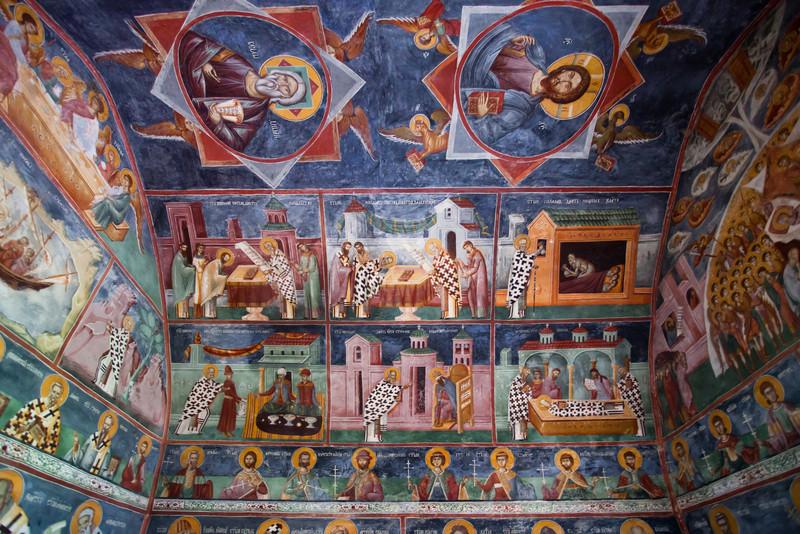 Frescoes, Montenegro, Morača monastery