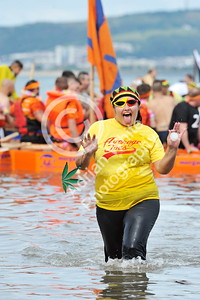 SWANSEA / copyright Adrian White Sunday 31st July 2016 Mumbles Raft Race Laura Davies BYLINE www.clic4prints.com