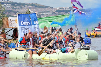 SWANSEA / copyright Adrian White Sunday 31st July 2016 Mumbles Raft Race BYLINE www.clic4prints.com