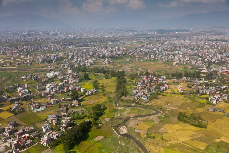 Outer Kathmandu from the air