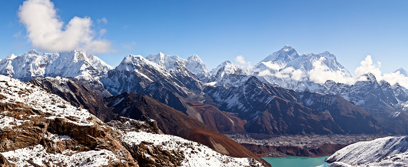 Renjo la toward Everest and Gokyo lake
