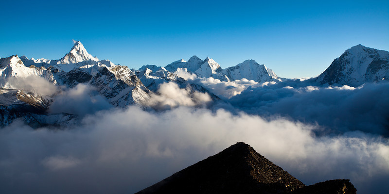 Ama Dablam on the left from Kala Patar
