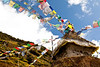 Chortan and prayer flags