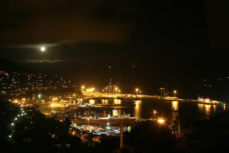 Lyttelton Harbour Lights, Foggy Night