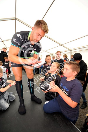 SWANSEA / Copyright click4prints.com Friday 12th August 2016 New Season Ospreys Kit Launch 2016/17 Liberty Stadium, Swansea Rhys Webb Byline click4prints.com