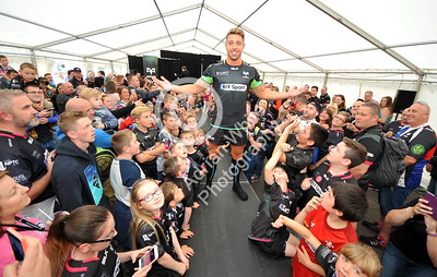 SWANSEA / Copyright click4prints.com Friday 12th August 2016 New Season Ospreys Kit Launch 2016/17 Liberty Stadium, Swansea Ospreys Rhys Webb Byline click4prints.com