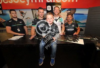 SWANSEA / Copyright click4prints.com Friday 12th August 2016 New Season Ospreys Kit Launch 2016/17 Liberty Stadium, Swansea  Byline click4prints.com