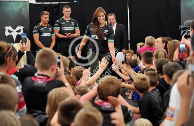 SWANSEA / Copyright click4prints.com Friday 12th August 2016 New Season Ospreys Kit Launch 2016/17 Liberty Stadium, Swansea Shona Powell-Hughes Byline click4prints.com