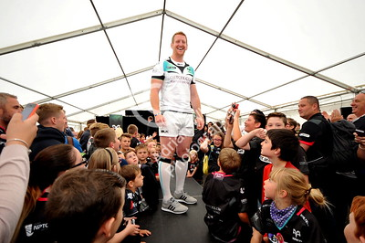 SWANSEA / Copyright click4prints.com Friday 12th August 2016 New Season Ospreys Kit Launch 2016/17 Liberty Stadium, Swansea Ospreys Bradley Davies Byline click4prints.com