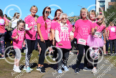 Race For Life 2019 Swansea  Sunshine greeted hundreds of runners raising funds for Cancer Research. Starting from The National Waterfront Museum with a route taking in Swansea's SA1 and marina neighbourhoods.  Constance Fouracre aged 88 from Port Talbot running (and walking) with her family.  Copyright © 2019 by Adrian White  Photography, all rights reserved. For permission to publish - contact me via www.adrianwhitephotography.co.uk Please respect copyright laws.